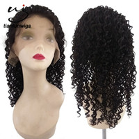 Wholesale 7a kinky curl hair for sale - Group buy qingdao factory natural color Natural hairline A Remy virgin Human Hair Kinky Curly Afro Curl Full Lace Wigs lace front wig