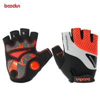 Wholesale fingerless padded gloves - BOODUN Cycling Gloves Half Finger Bicycle Gloves Bike Gel Pad Racing Biking Gloves Guantes Ciclismo Luva Guantes Bisiklet
