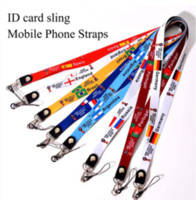 Wholesale camera neck strap lanyard holder - Cell Phone Charms Straps Black Lanyard Neck Strap for ID Pass Card Badge Mobile Phone Holder Camera length 42cm