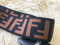 Wholesale hair designs headband for sale - FF headband newest design men headband women headband luxury brand headbands double f letter hair bands with label