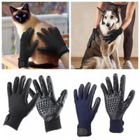 Wholesale Rubber Trims - Pet Animal Brush Glove Dog Cat Hair Grooming Trimmer Tool Super Rubber Massage Cleaning Glove for Dog Cat Pet Hair Cleaning 60pairs OOA5058
