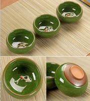 conjunto chinês do chá do fu do kung venda por atacado-Chá De Cerâmica China Kung Fu Conjuntos de Chá Chinês Quente Copos De Chá De Porcelana Celadon Peixe Chávena Copos Oolong Copos Pires