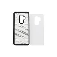 ingrosso gomma di alluminio-50 pezzi all'ingrosso per Samsung S9 TPU custodia in gomma in sublimazione 2D per Samsung S9 S9 plus custodia in lamiera di alluminio