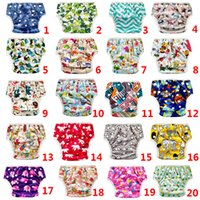 Wholesale size girls diapers resale online - 20 Colors Unisex One Size High Quality swim diaper baby boy girl swimsuit waterproof swimwear swimming pool special adjustable