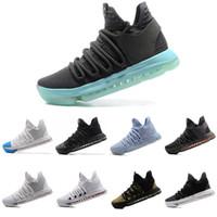 Wholesale kevin durant shoes colors - 33 Colors KD 10 Men Basketball Shoes Homme White Tennis BHM Kevin Durant KD X Kds Elite Floral Aunt Pearls Easter Men Sneaker