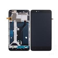 zte lcd ekranı toptan satış-Orijinal LCD Ekran Dokunmatik Ekran Digitizer Için Çerçeve Ile ZTE Blade Z Max Z982 ZMax Pro Z981