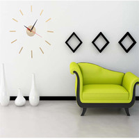 Wholesale wall lights living room for sale - Originality DIY Clockwork Wall Clock Fashion Home Furnishing Decor Living Room Acrylic Clocks And Watches High Grade sq Ww