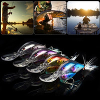 Wholesale body fishing lures resale online - 1pcs cm g Hard Lure Pesca Wobbler Fishing Lures Three Fish Body Style Bass Artificial Bait with Feather Treble Hooks