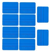fenster grafik film großhandel-3 Mt Auto Aufkleber Film PP Kunststoff Blau Rakel 4 zoll Fahrzeug Vinyl Applikator Werkzeuge Car Wrap Graphics Applicator