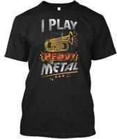 ingrosso anti corno-I Play Heavy Metal Tuba Funny Citazione Pun Horn Player - Maglietta Hanes Tagless Tee
