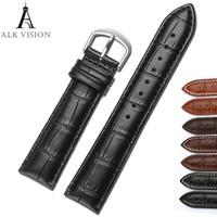 Wholesale diy watch parts online - Alk Vision Watch Band Bracelet Belt Watchbands Genuine Leather Strap DIY Parts Watch Band mm mm mm mm watch accessories
