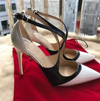 sendika modası toptan satış-2018 yılında, yeni marka kırmızı alt kadın moda ayakkabılar çıplak ayakkabılar çıplak ayakkabılar çıplak yüksek topuklu burnu sandalet büyük boy Avrupa Birliği