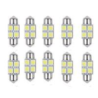 innenkuppel hellblaue glühbirnen großhandel-5050 31mm 4SMD Micro Allgemeine Auto-Innenhaube Girlande LED Glühlampen Lampe Weiß DC 12 V Großhandel