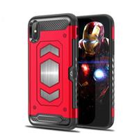 Wholesale q8 cars - For Samsung Galaxy A8 2018 LG V30 G6 Q6 Q8 case Hybrid Armor Case car magnet sucker side card phone protection shell B