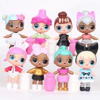 accesorios de pastel chino al por mayor-9 CM LoL Doll con biberón American PVC Kawaii Juguetes para niños Figuras de acción de Anime Realistas Muñecas Renacidas 8 Unids / lote
