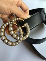 große metallbriefe großhandel-Heißer Verkauf große Perle Schnalle Modelle Gürtel Damen Jeans Gürtel Damen Metall Gürtel mit der Größe 105cm-125cm als Geschenk 88