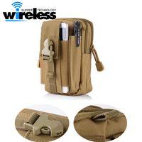 Wholesale Military Mobile Phones - Advocator Men 5.5' Camouflage Nylon Fanny Bag Mobile Phone Travel Waist Pack Bag Military Men Waist Fanny Pack Waist Belt Bag