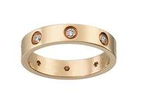 ingrosso vs anello-2017 Fashion New Style 18 K Rose Gold Love Ring Con Diamante Con Scatola Originale Per Le Donne Regalo Prfect CR0030 (0.30ct VS G 5g)