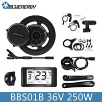 Wholesale kit motor for electric bike - 2018 Bafang 8fun BBS01B BBS01 36V 250W Electric Bicycle Kit Mid Crank Motor with Color C961 Display for Electric Bikes