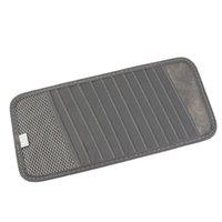 Wholesale Dvd Car Holder - MultiFunction Car Interior Accessories Car CD DVD Holder 12Disc Storage Case Organizer Sun Visor Sunshade Sleeve Wallet Clips