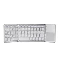 ipad планшеты для продажи оптовых-Горячая распродажа A18 Bluetooth складная клавиатура дважды складная беспроводная сенсорная панель для iOS/Android / Windows ipad Tablet
