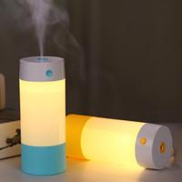 atomiseurs rohs achat en gros de-250 ml tasse USB Mini humidificateur à ultrasons LED lumière purificateur d'air atomiseur Mist Maker salon diffuseur brumisateur