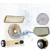 ev için masa lambaları toptan satış-Taşınabilir Güneş Fan LED Masa Lambası 3 in 1 Çok fonksiyonlu Göz Bakımı El Feneri Ev Kamp Güneş Soğutma Fanlar için Işık