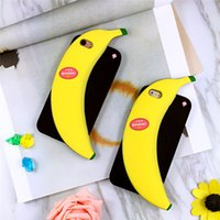 Wholesale Banana Phone Iphone Case - Tide brand stereo banana iPhone6s cell phone shell iPhone6 plus silica gel creative protective sleeve against falling tide men and women