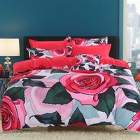 red roses comforter sets NZ - Wannaus New 3D Bedding Set 60S Cotton High Quality Red Roses Printed 4-Piece Duvet Covers set Comforter Cover set