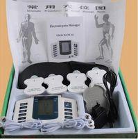 almofadas de eletrodo para dezenas de acupuntura venda por atacado-Estimulador elétrico Corpo Inteiro Relaxar Músculo Digital Massager Pulso DEZENAS de Acupuntura com Terapia Chinelo 16 Pcs Eletrodo Pads