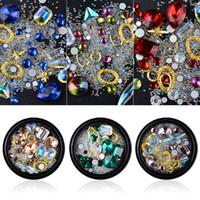 акриловые алмазные камни оптовых-1 Box Mixed Colorful Rhinestones Acrylic Pearl Nails 3D Jewelry Crystal Stones For Nail Art Decorations Manicure Diamonds