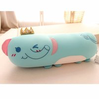 Wholesale elephant puppet for sale - Group buy Cute Elephant Hippo Dolls Nano Particle Foam Toys Long pillow