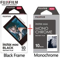 Wholesale fuji instax mini camera - Fujifilm Fuji Instax Mini 9 Film black and white Monochrome Mono + Black Frame Film for Mini 8 70 8 Plus 90 25 Camera SP-1 SP-2