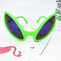 Wholesale halloween alien props - Funny Spectacles Blue Mercury Eyeglass Ball Photograph Prop Creative Green Party Supplies Alien Eye Glasses Factory Direct 7sfa V