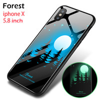 yeni led telefon kutuları toptan satış-Yeni tasarım led cam telefon kılıfı iphone XS MAX XR