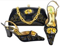 Wholesale matching shoes purses - Brand new Bridal Wedding Party clutch bags purse with high heel sets Italian shoes matching bags