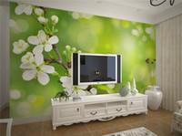Wholesale Interior Design Kids Bedroom - Modern Simple Flower Mural 3D Wallpaper Living Room Bedroom Dining Room Cozy Design Interior Decor Wall Paper Papel De Parede 3D