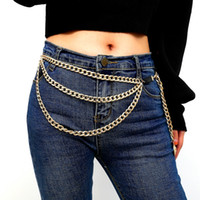 Wholesale head harnesses for women for sale - Group buy Lion head pendant waist chain Multilayer Waist Belt Chain Long Tassel Coin Pendant Harness Belly Chains for Women Waistbands Body Jewelry