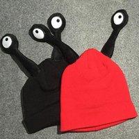 Wholesale Snail Crochet - Newest Winter Warm baby Children Wool Flat Hat Super Cute Snail Beanie long Eyes Kids Wool Knitted Cap