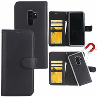 Wholesale magnetic design - Premium Magnetic Wallet Leather Case Detachable Removable Lambskin Design Phone Cover For iPhone X 8 7 6 plus Samsung S9 S8 A8 2018