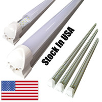 Wholesale T8 Light Tubes - V-Shape 8ft led tube lights T8 Integrated cooler door design shop LED lights fixture 2ft 3ft 4ft 5ft 6ft 3000K 4000K 5000K 6000K