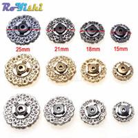 Wholesale metal craft buttons - 60pcs lot Metal Snap Fasteners Clasps Button For Handbag Purse Wallet Craft Suit buckles Bags Parts Accessories