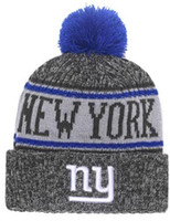 bbcb1738401 2019 Winter Hat New York Beanie NY stripe Sideline Cold Weather Sport Knit  Hat Wool Bonnet Warm TD Graphite Official Reverse Cap Beanies