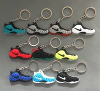 Wholesale wholesale keychains shoes - PVC Shoes Keychain Bag Charm Woman Men Kids Key Ring Key Holder Gift Sneaker Key Chain