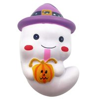 Wholesale rubber face doll - New Strawberry Ghost Cartoon Face Doll Slow Rising Soft Cream Scented Cute Fun Halloween Gift Kids Toy