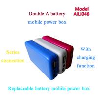 aa embalagem da bateria venda por atacado-Caixas do carregador do telefone móvel para AA Bateria AAA Bateria de Emergência Móvel Power Backup Charger Case para Níquel Cádmio Níquel Hidrogênio bateria