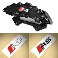 fren hatları toptan satış-6 ADET Sline RS Fren Kaliper Sticker S hattı Dikiz Aynası İç Konsol Decal Sticker Audi A3 A6 A5 A7 A3 Q3 Q5 Q7 TTRS
