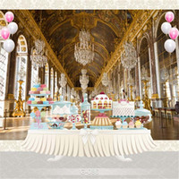 Wholesale Palace Crystals - Luxury Palace Crystal Chandelier Photography Backdrop Printed Baby Kids Princess Girl Birthday Wedding Party Photo Booth Background
