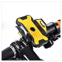 Wholesale motorcycle handlebar cell phone mount online – New Universal Mountain Bicycle Bike Motorcycle Mount Bike Handlebar Cell Phone Holder Yellow Blue Hot Sale