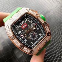 lista de marcas de relógios venda por atacado-Top marca de alta qualidade dos homens relógio 011 movimento totalmente automático grande exibição de calendário 40MM vidro safira nova listagem